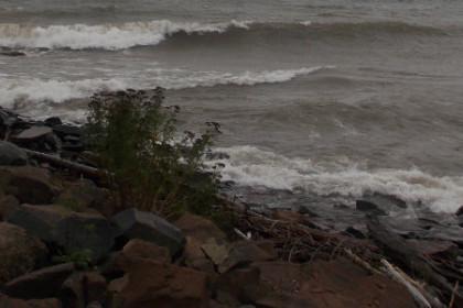 Lake Superior storm surge