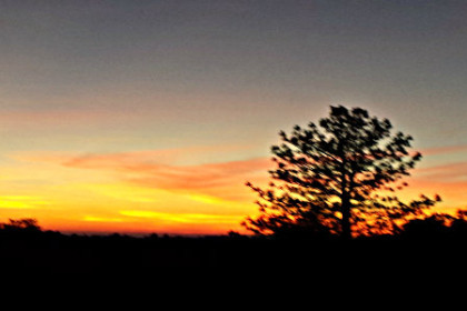 Sunset viewed from Oakstone deck