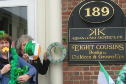 Eight Cousins Bookstore for St Patrick's Day