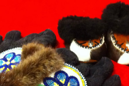 Beadwork mittens and booties