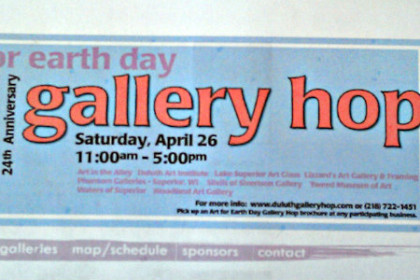 Gallery Hop for Earth Day