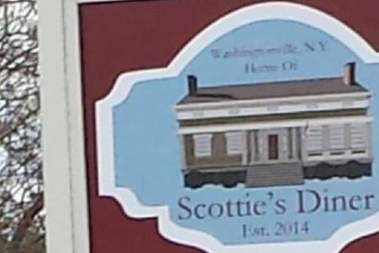 Picture of diner with name Scottie's Diner written below