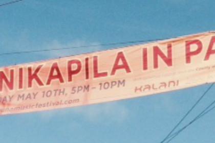 Banner reading Kanikapila in Pahoa