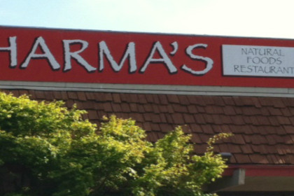 The front of Dharma's Restaurant building