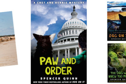 Book Launch for Paw and Order at Eight Cousins bookstore in Falmouth Cape Cod