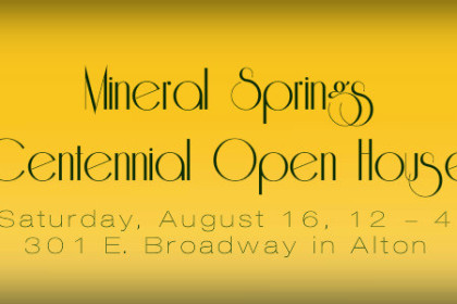 Mineral Springs 100th anniversary celebration poster