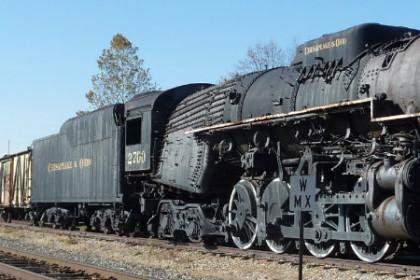 photo of a black train engine