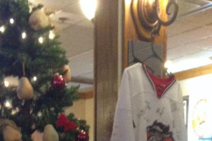 TV and Christmas tree