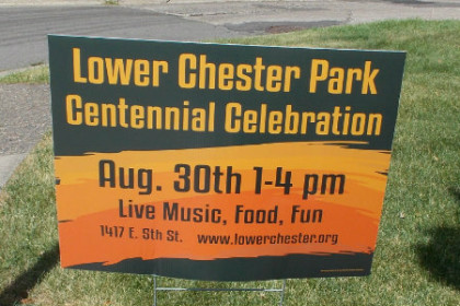 Neighbors of Lower Chester Park Sign