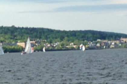 Sailboat races in Lake Superior