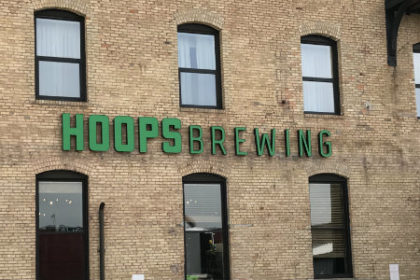 Hoops Brewing Sign Duluth MN