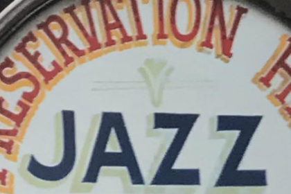 view of the Preservation Hall logo